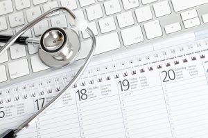Calendar, Stethoscope, and Keyboard