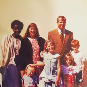 Dr. Whitehead as a young girl with her family in Botswana