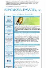 Women's Wellness Newsletter
