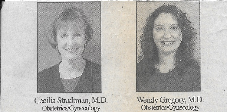 newspaper clipping drs. stradtman and gregory